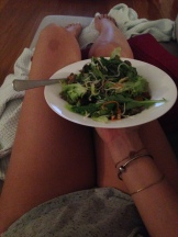 Big plans this Sunday to spend it like this: on ma couch with ma dinner.