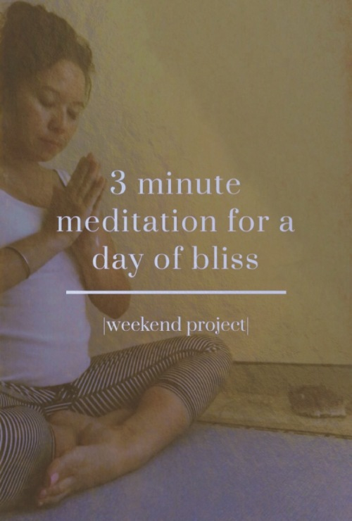 3 minute meditation for bliss
