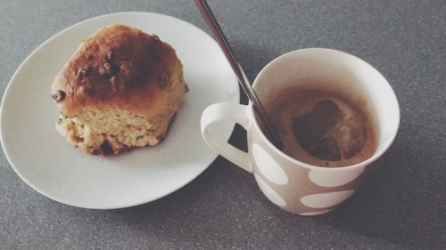 delish scone with morning tea