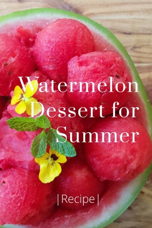 Watermelon Dessert for Summer with Easy 3 Ingredient Sorbet (Recipe)