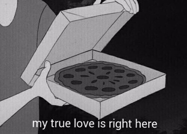 True love right here in my pizza