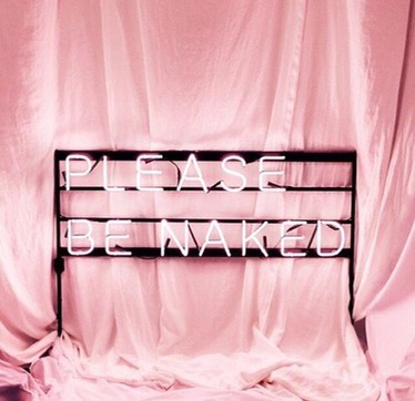 Please be naked neon pink lights