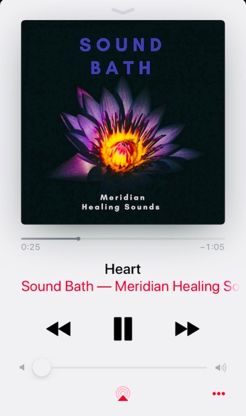 sound bath meridian heart healing